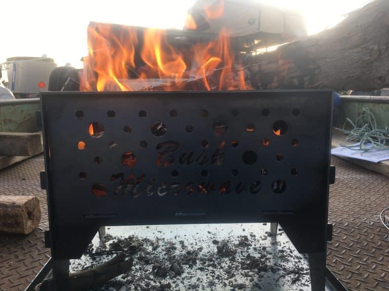 bush microwave fire pit