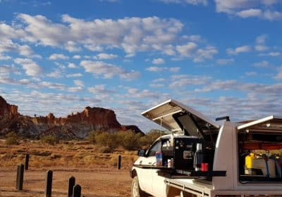 The Overlander - camp kitchen